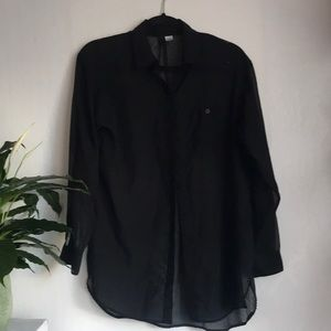H&M Sheer Black Button-up